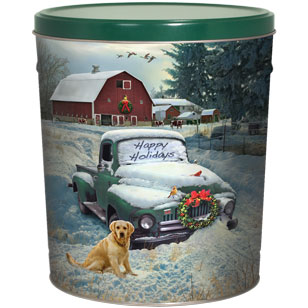 3LB Countryside Christmas Tin with Dill Pickle Chips