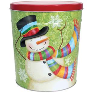 3LB Scarf Snowman Tin with Mama Zuma Chips