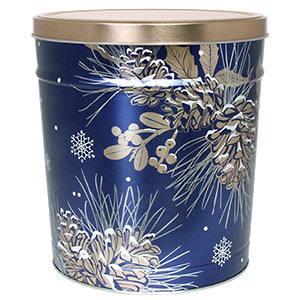 3 LB Winter Pine Tin of Lightly Salted Potato Chips