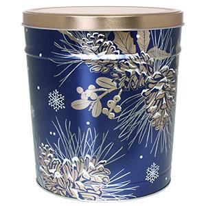 3 LB Winter Pine Tin of No-Salt Potato Chips