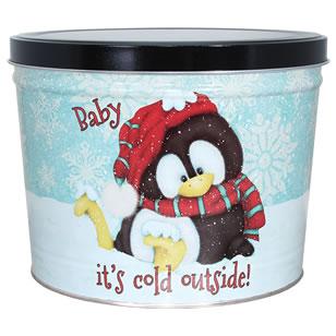 1.5 LB Penguin Tin of Salt N Vinegar Potato Chips