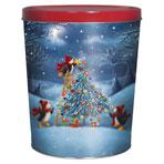 3LB Penguin Tree Trimming Tin with Salt N Vinegar Chips